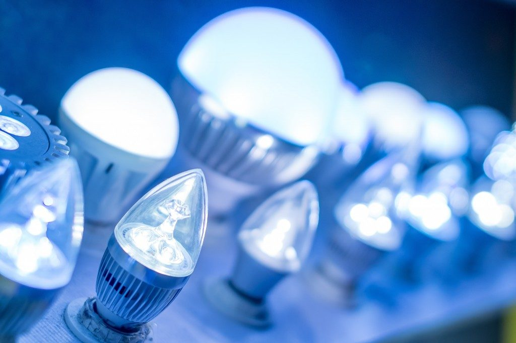 Blueish led lamps