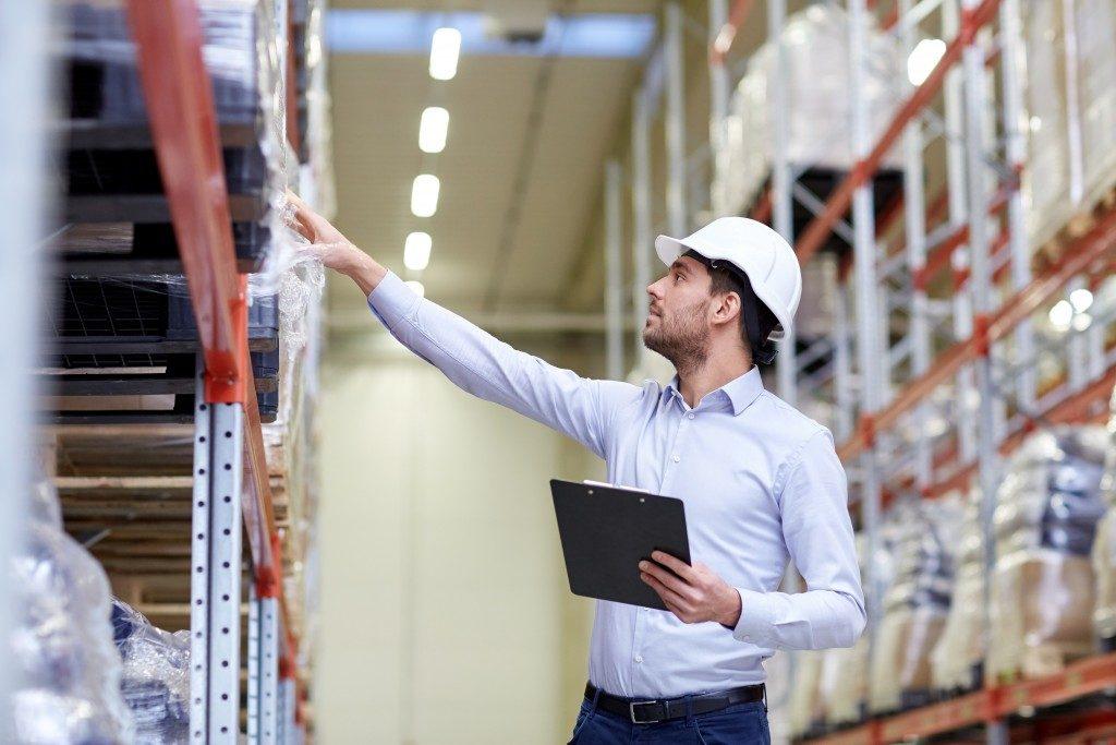 checking goods at a warehouse