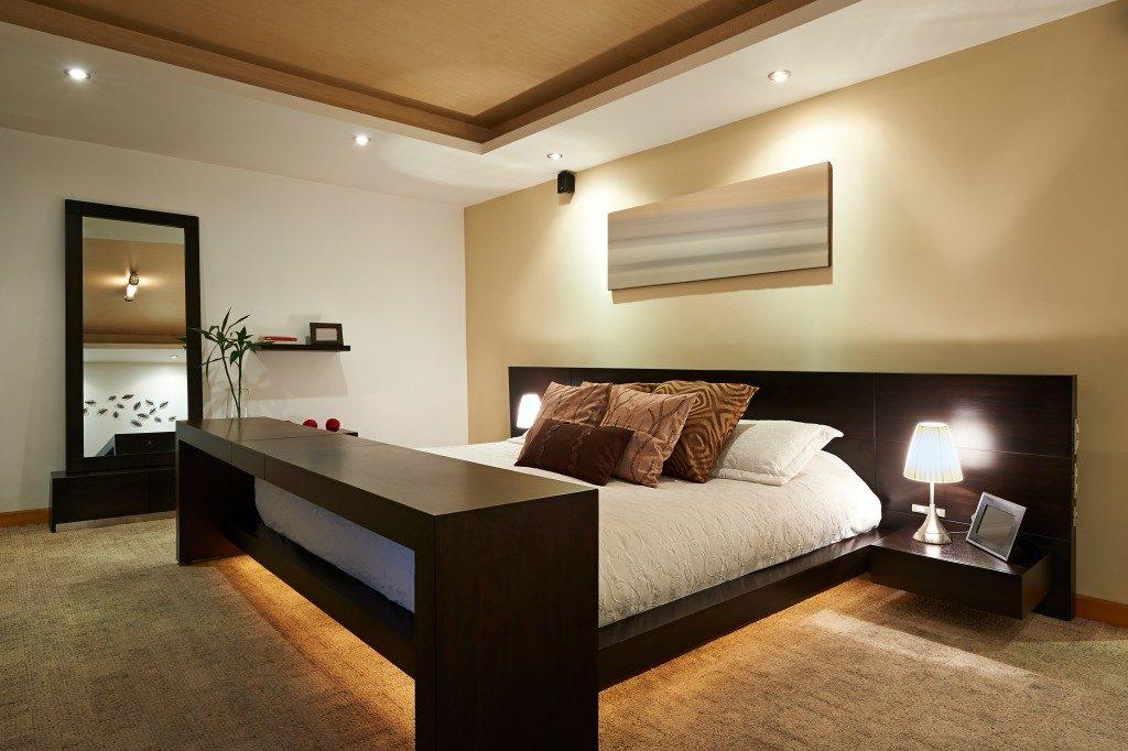 Bed Frame in a Modern Bedroom