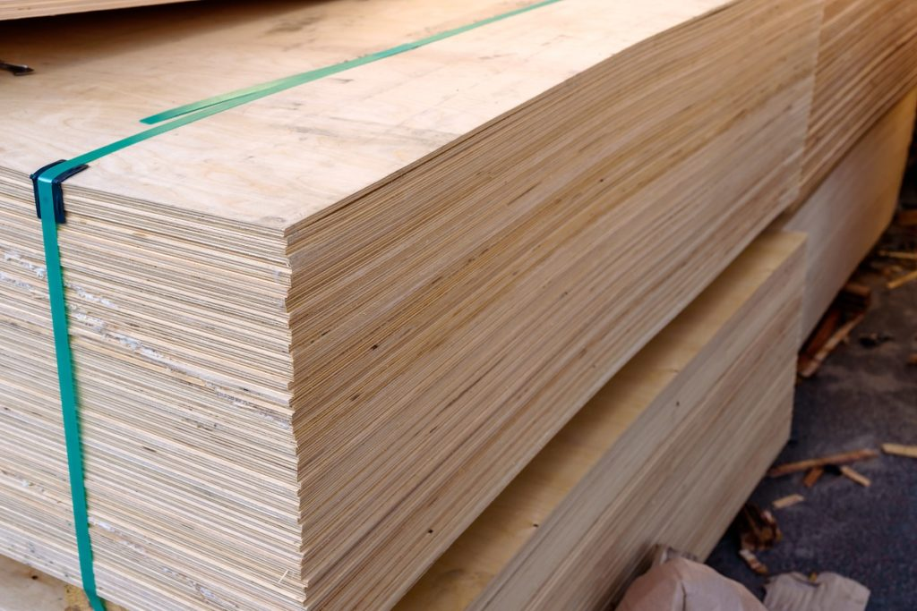 Bundle of plywood