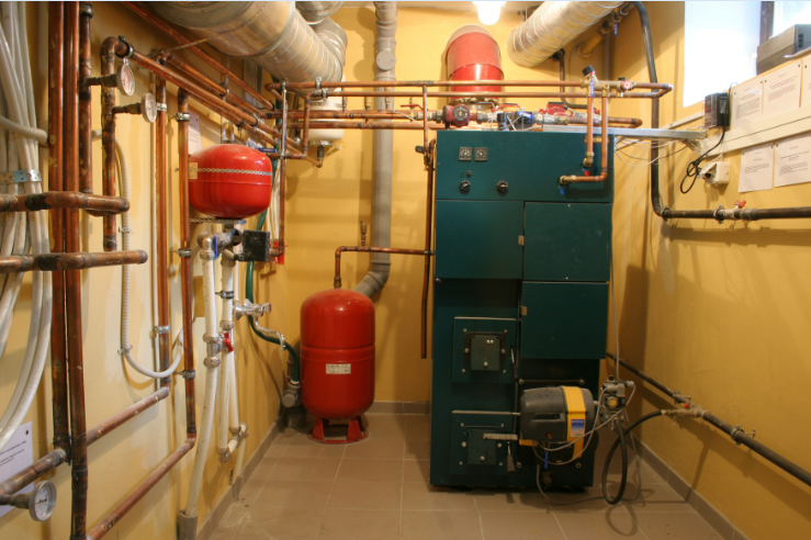 room with boilers