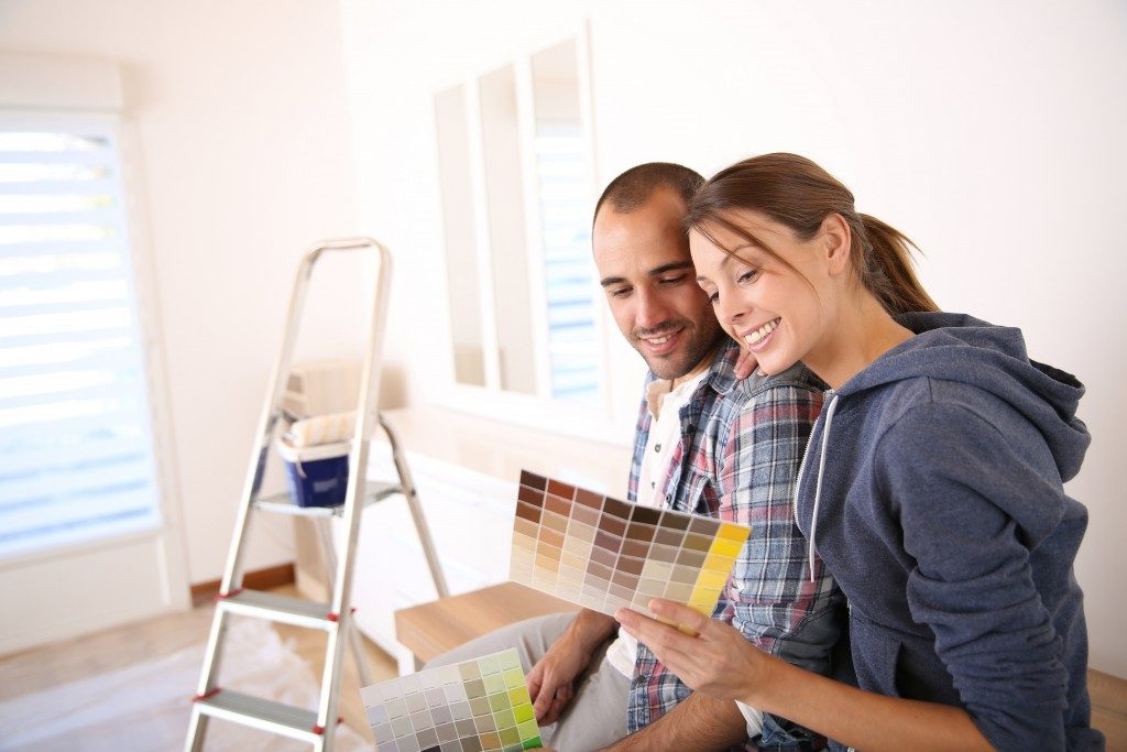couple during home renovation