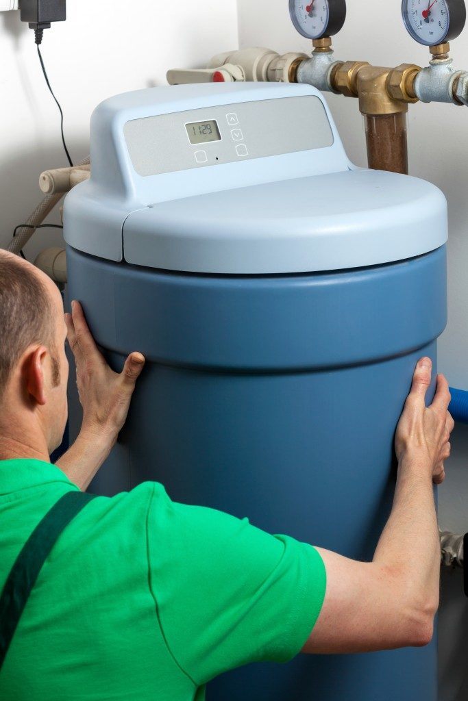 Installation of a water softener