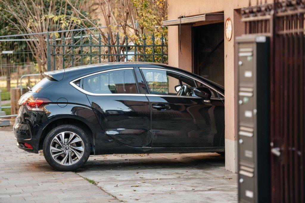 car entering through garage door