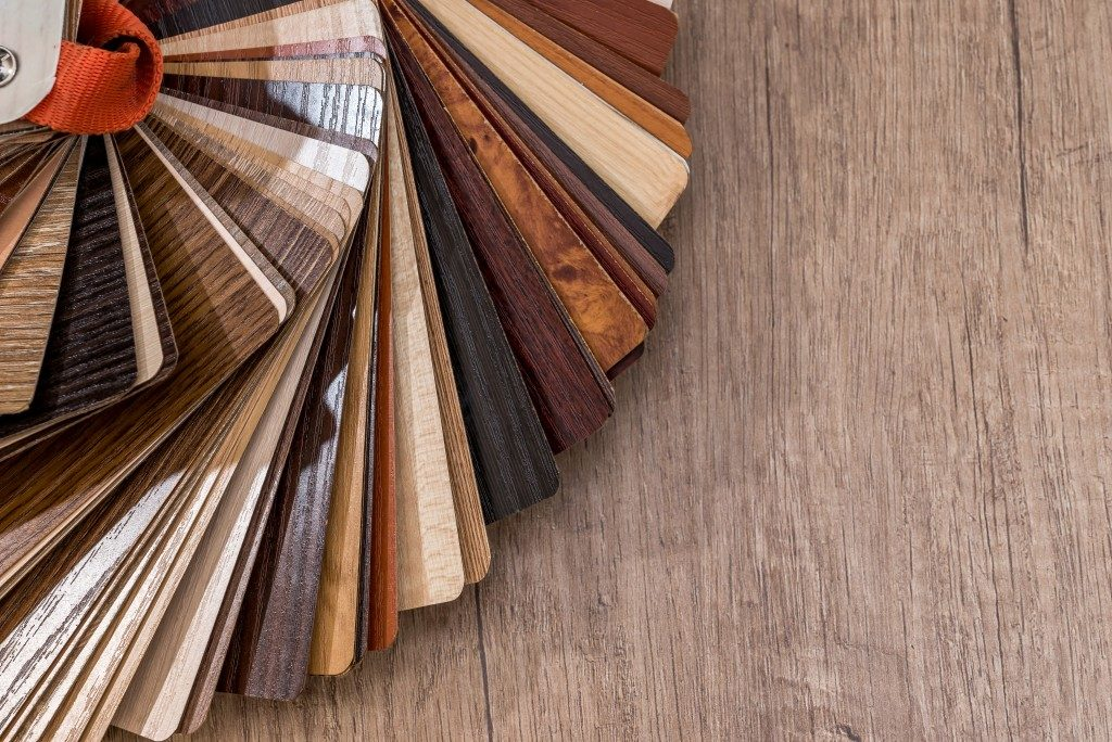 swatches of wood finishes
