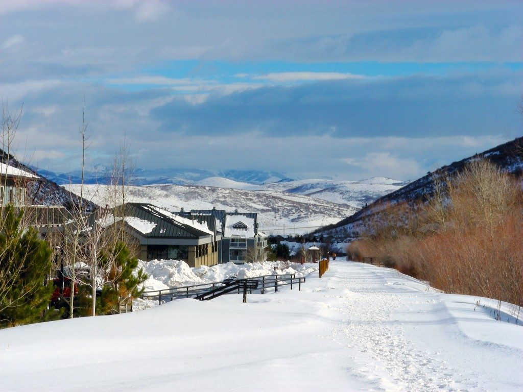 snow in Park City Utah Rail Trail