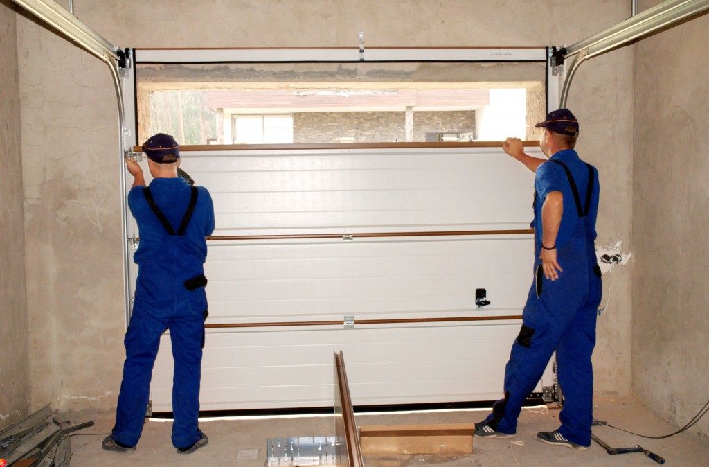 Having experts fix the garage door