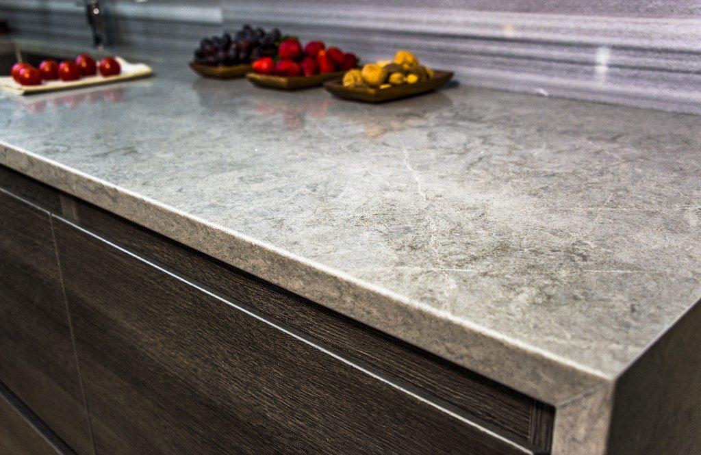 Clean marble countertop