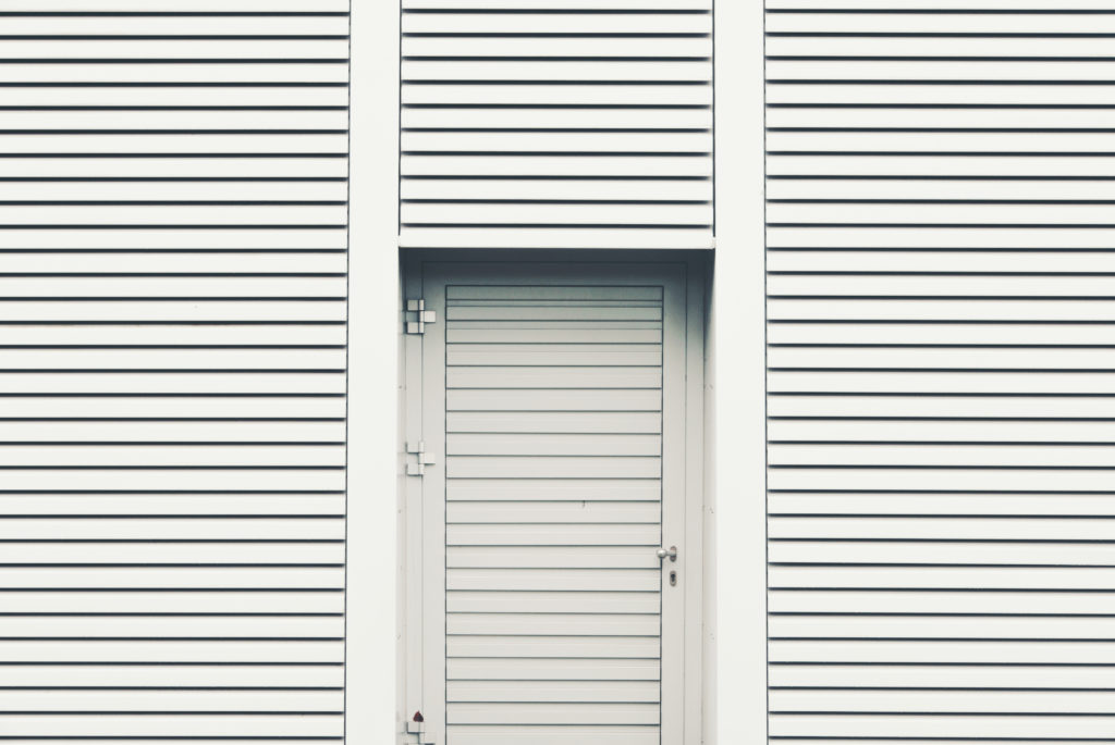 Modern white door