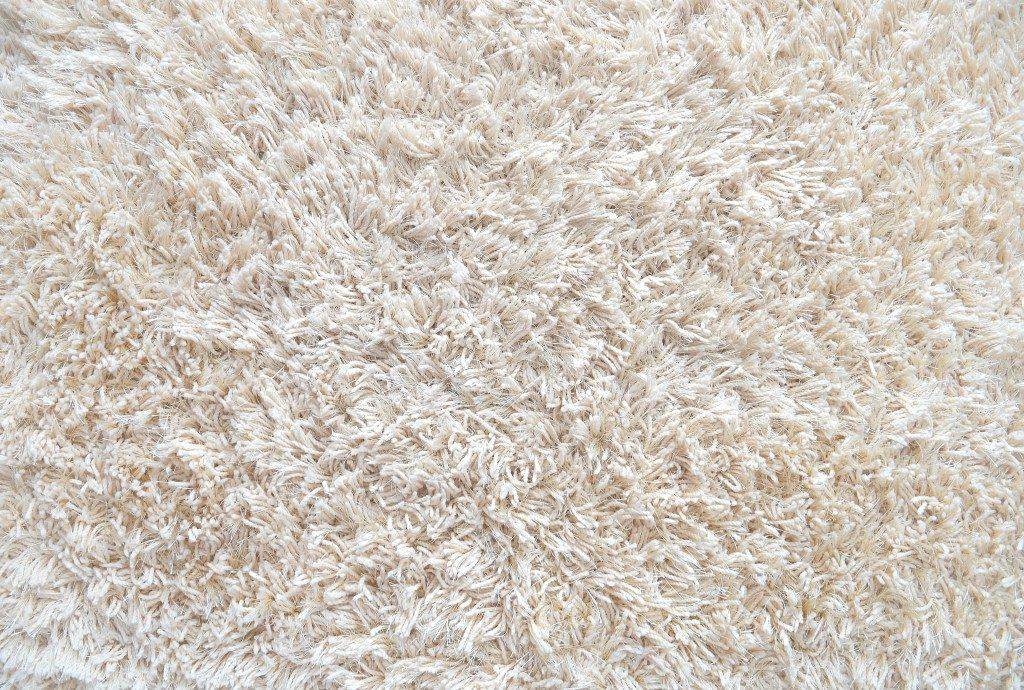 fluffy white carpet