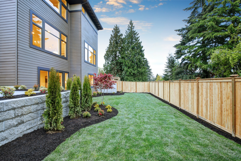 yard for patio space